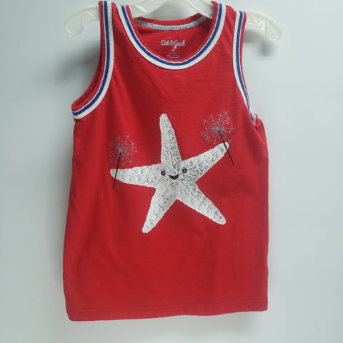 """Star Fish"" Tank Top by Cat & Jack Size 4 T"