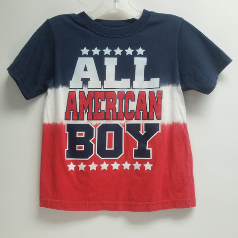 """All American Boy"" Short Sleeve T-Shirt by Wonder Nation Size 4 T"