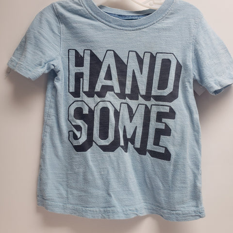 "Lite Blue ""Handsome"" Short Sleeve T-Shirt by Jumping Beans Size 4"