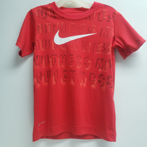 Red and White Athletic Shirt by Nike Size 4
