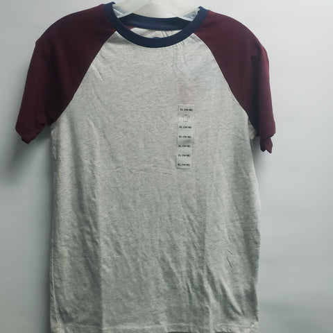 NEW Maroon and Grey Short Sleeve Tee Shirt By Old Navy Size 14-16