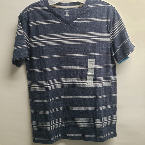 NEW Blue with White Stripes Short Sleeve Tee Shirt By Old Navy Size 14-16