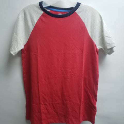 NEW Red and Grey Short Sleeve Tee Shirt By Old Navy Size 14-16