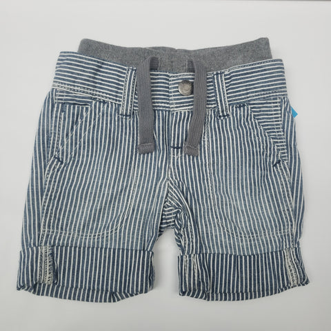 Blue with White Stripe Pull On Shorts By Gap Size 0-3 M