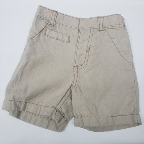Khaki Pull On Shorts By Old Navy Size 6-12 M