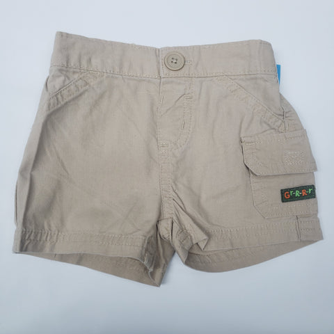 Khaki Pull On Shorts By Just One Year Size 6 M