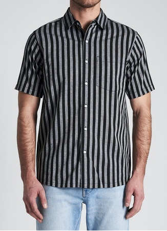 33342 Stripe SS Shirt Black