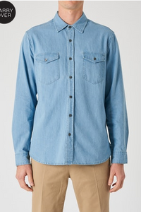 33620 Waits Denim LS Shirt Groove Blue