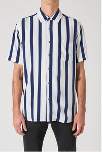 33630 Stripe Ss Shirt - White