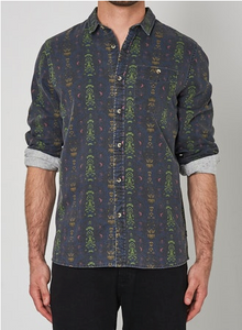 15967 Men at Work Dark Garden Shirt Multi
