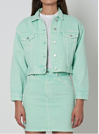 13226 Slouch Crop Jacket Fresh Mint