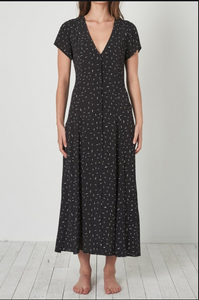 13440 Milla Maxi Dress Mini Spot - Black
