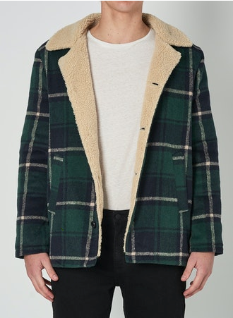 15820 Oldmate Sherpa Coat - Forest Check