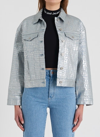 71917 A Bonnie Denim Jacket Crystal