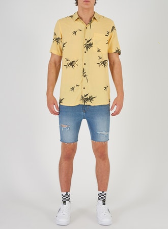 81381 Aresort Shirt Bamboo Lemon