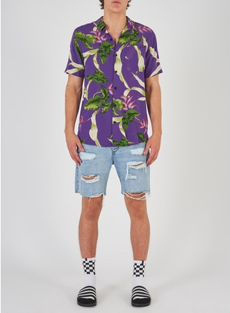 81389b A Resort Shirt Jungle Drum Purpp