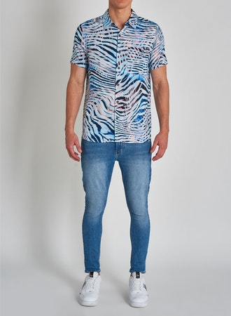 81663 A Resort Shirt Tiger Palm