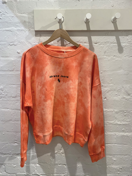 72077 A Oversized Sweater - Melon Tiedye