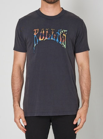 15993 Old Mate Blacklight Tee Black