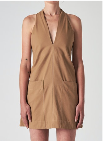 38351 Halston Dress Camel