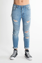 Load image into Gallery viewer, 81176 A Dropped Skinny Jean Kicker Chalk SIZE 29