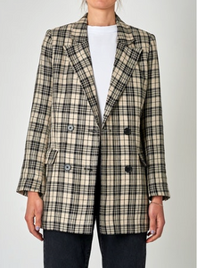 38681 Julia Blazer Mono Check