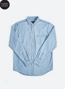 33211 Waits Denim Shirt Washed Indigo