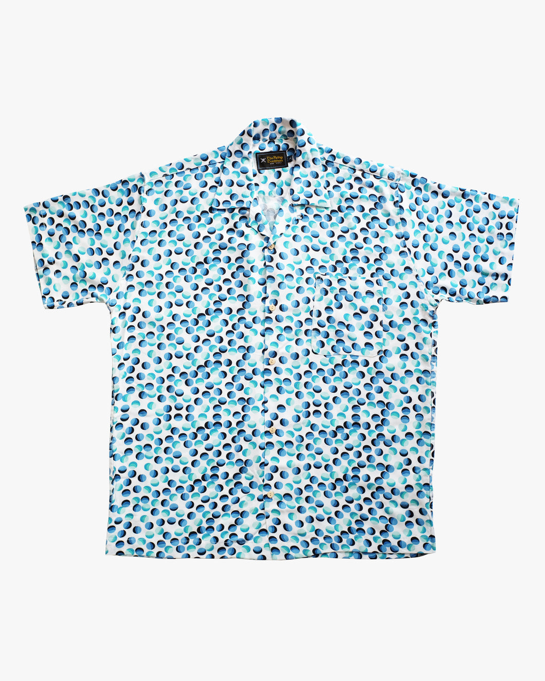 Bubble colored (white & blue) short sleeve shirt