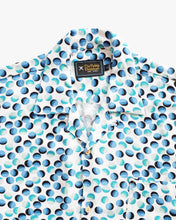 Load image into Gallery viewer, Bubble colored (white & blue) short sleeve shirt