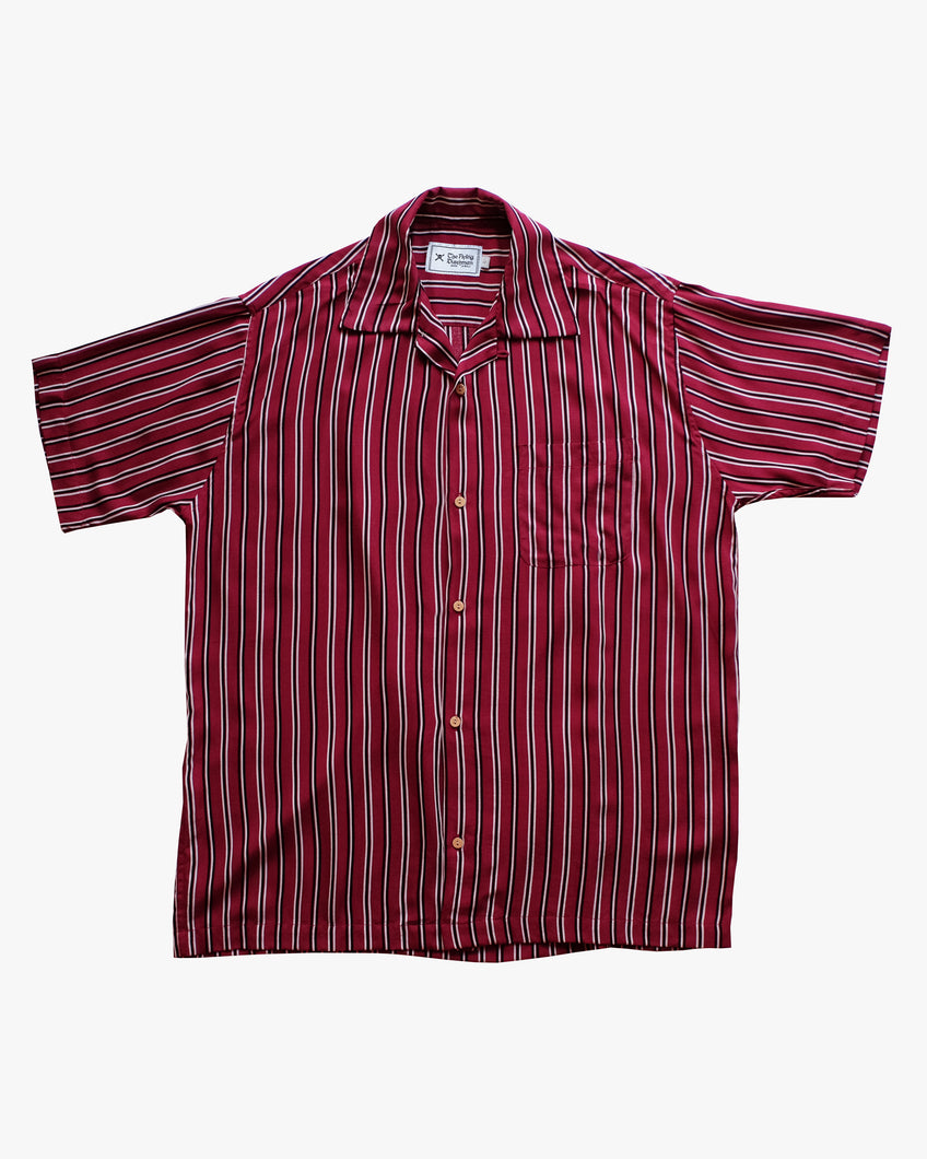 red striped short sleeve shirt