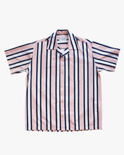 Load image into Gallery viewer, Striped salmon short sleeve shirt