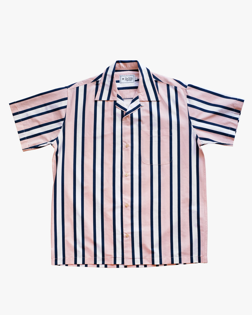 Striped salmon short sleeve shirt