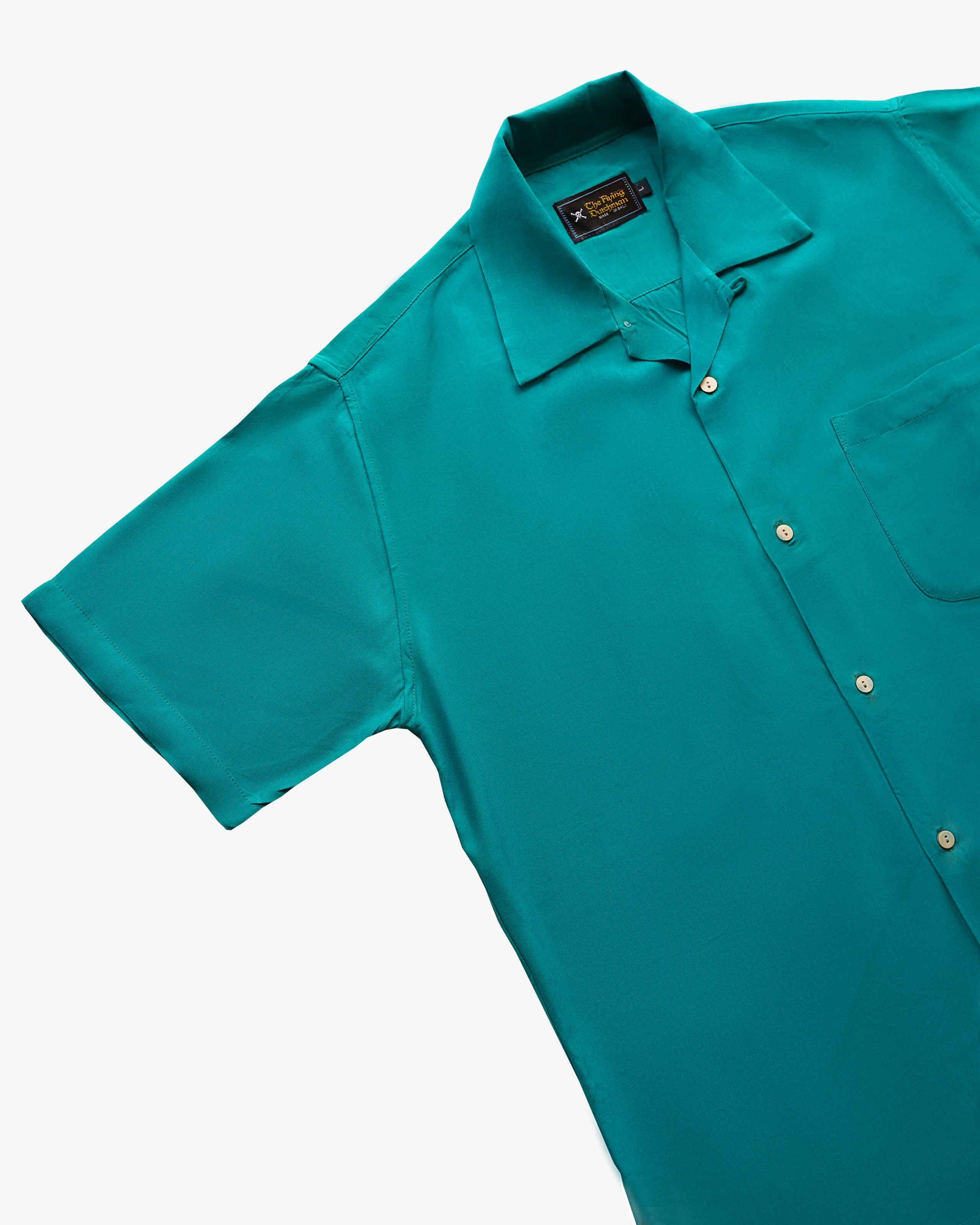 Plain Emerald short sleeve shirt