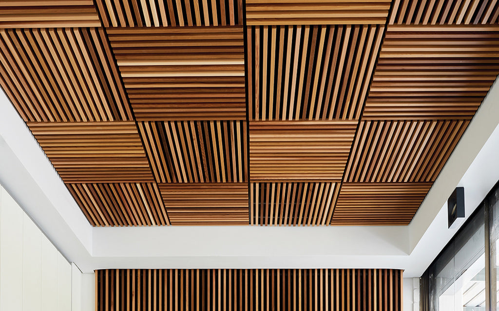 Timber Blade Ceiling Tiles 600 x 600 Fire Retardent