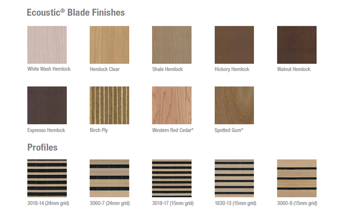 Timber Blade Ceiling Tiles 600 x 1200 Fire Retardent