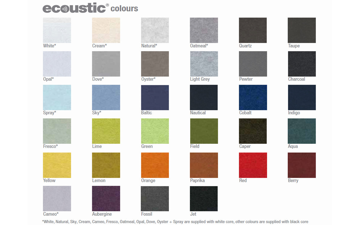 Ecoustic Ceiling Flats 1200 Felt Colour