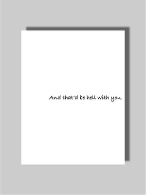Dating & Breakup Card Two