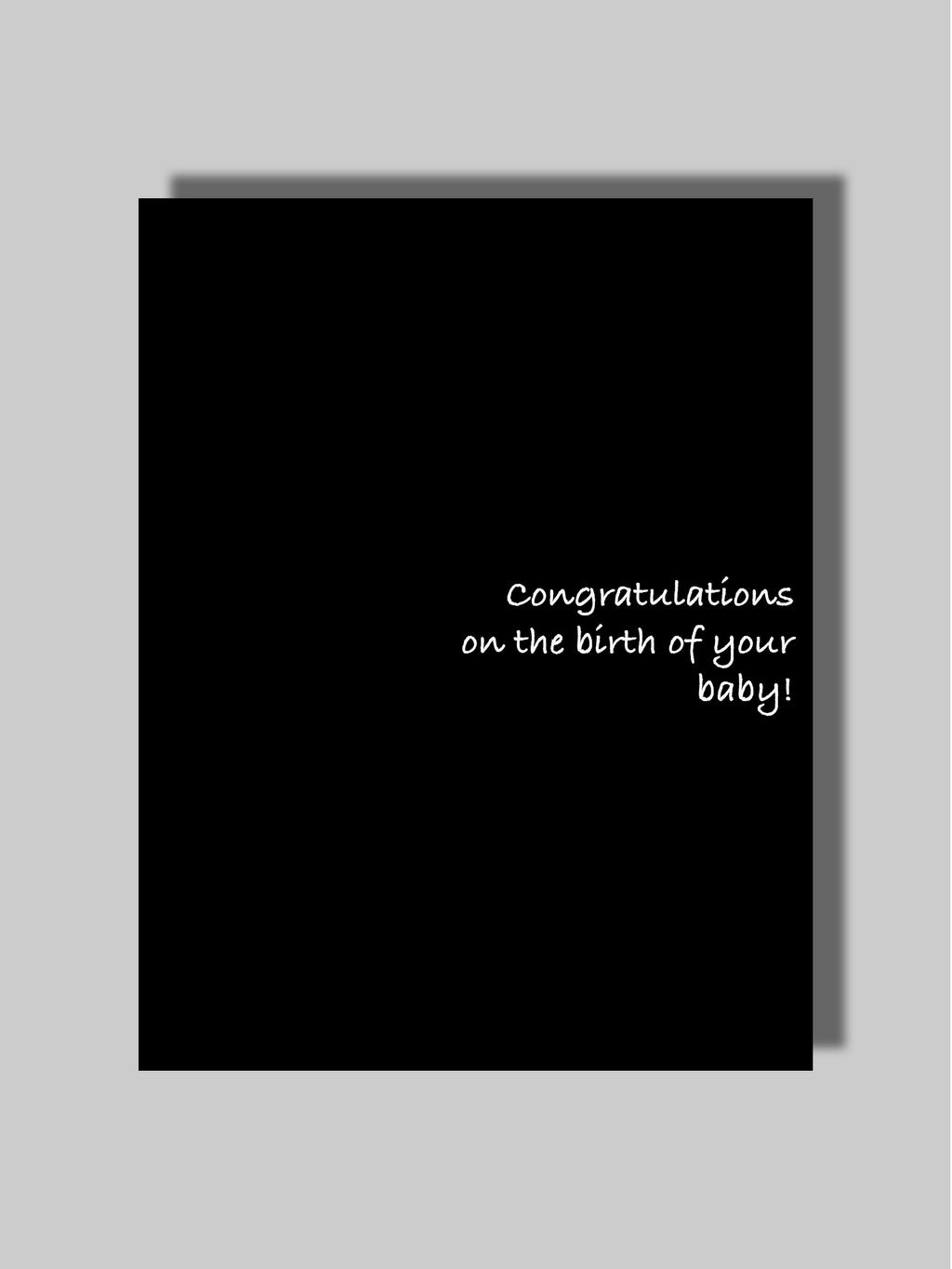 Congrats/Birth Card Two