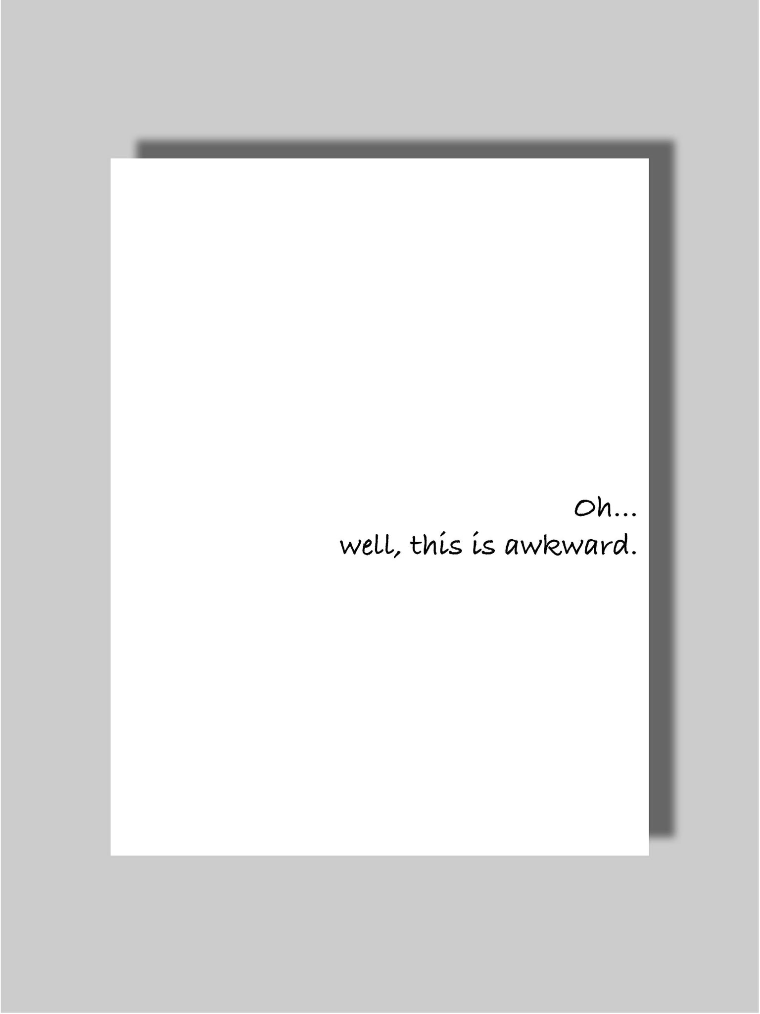 Dating & Breakup Card Six