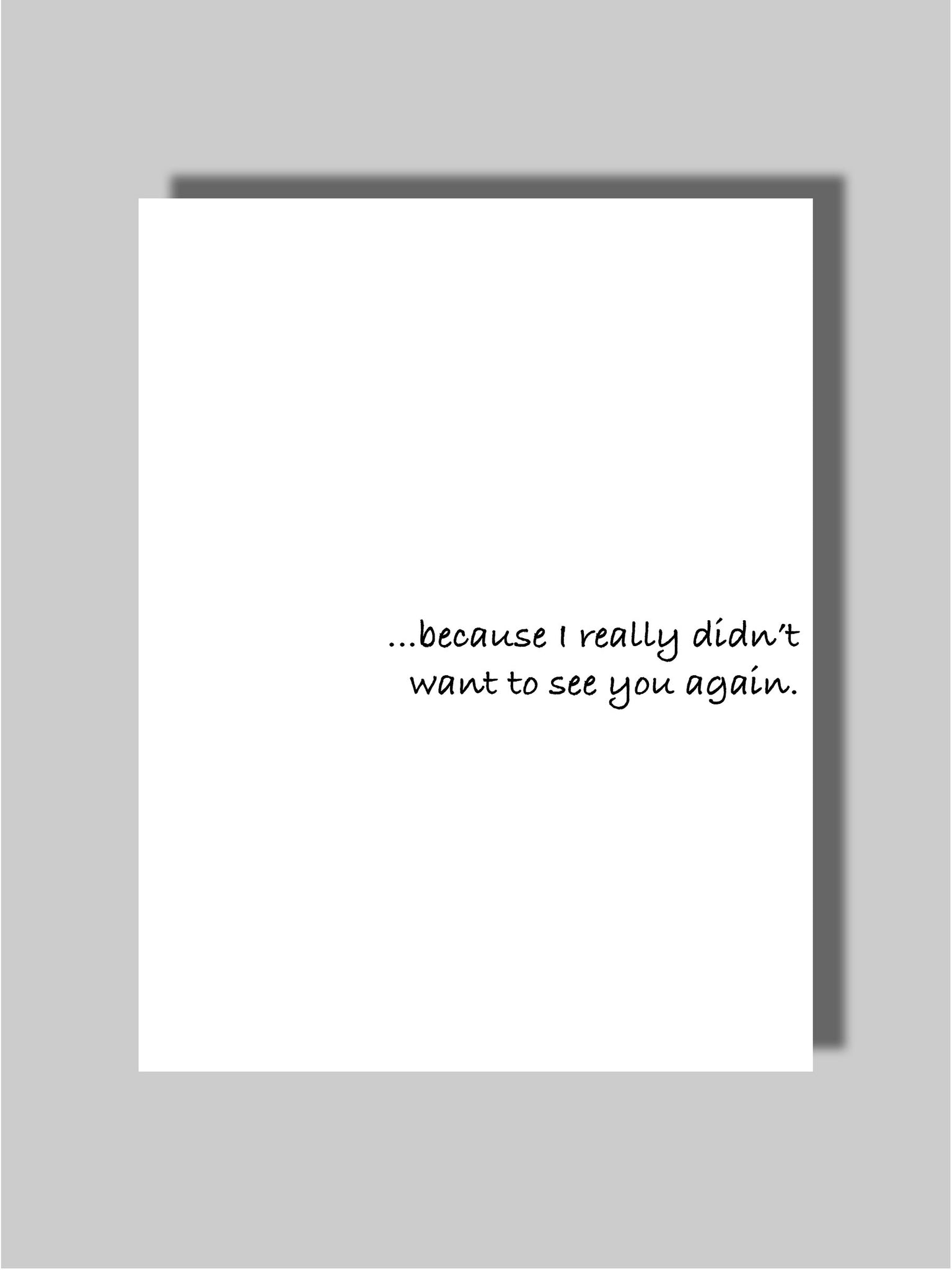 Dating & Breakup Card Nine