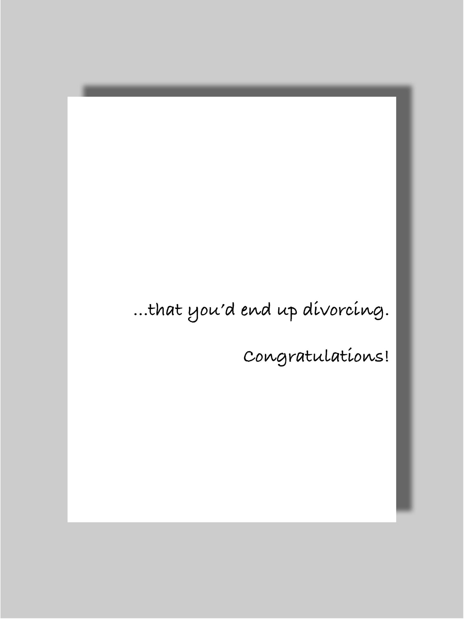 Divorce Card One