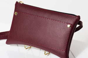 Burgundy Fanny Pack/Waist Bag/Hip Pouch