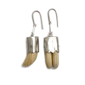 Wood Tooth Earrings