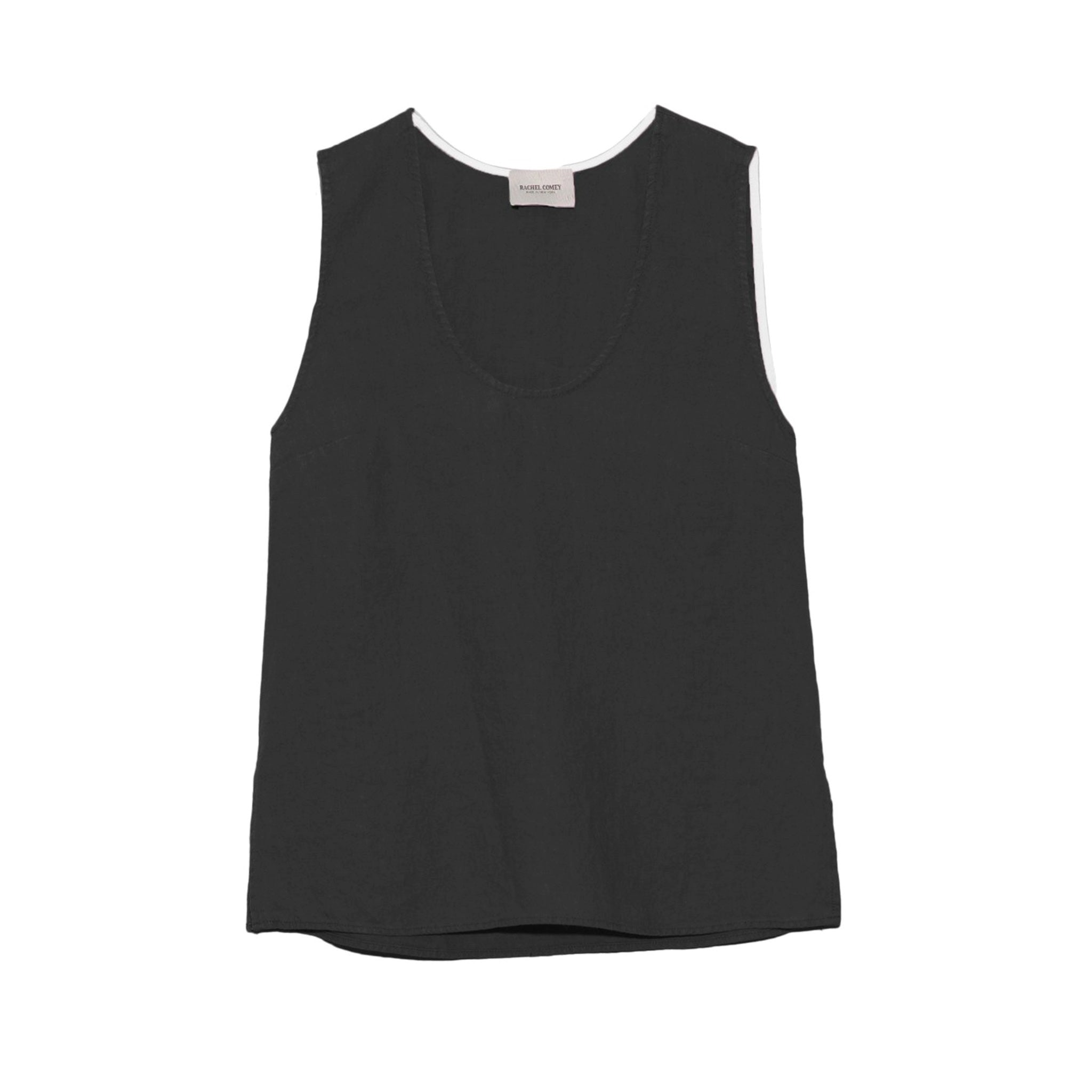 Heavy Linen Top Black