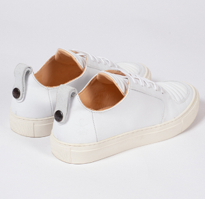 EKN - ARGAN LOW IN WHITE LEATHER