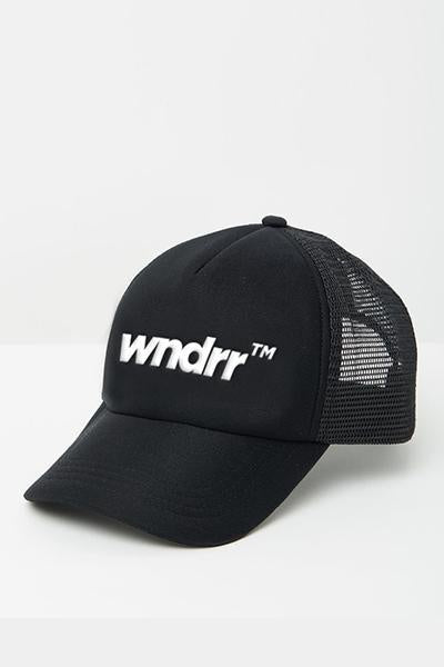 WNDRR TRADEMARK TRUCKER CAP BLACK