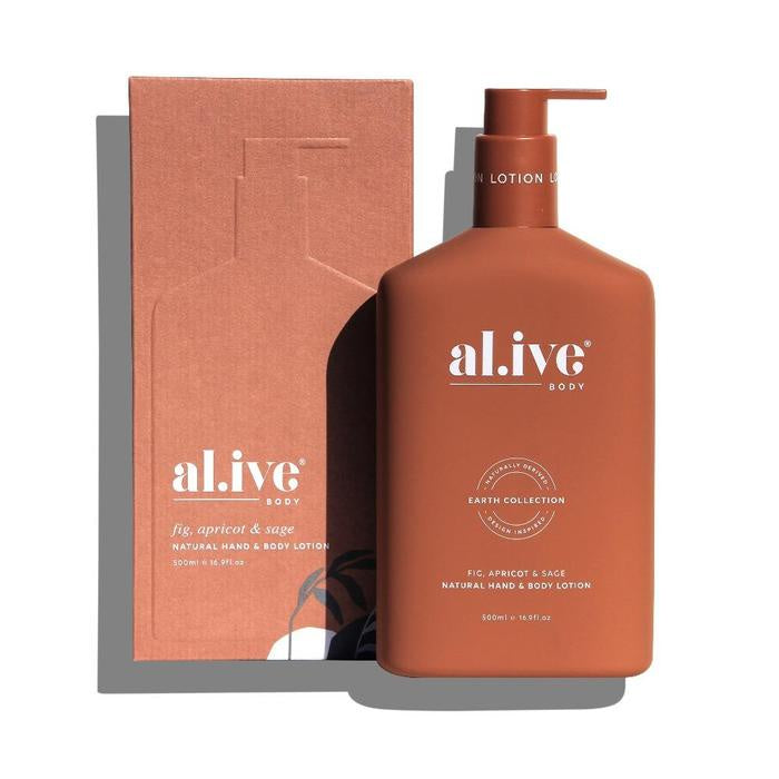 AL.IVE HAND & BODY LOTION - FIG APRICOT & SAGE HAND AND BODY LOTION