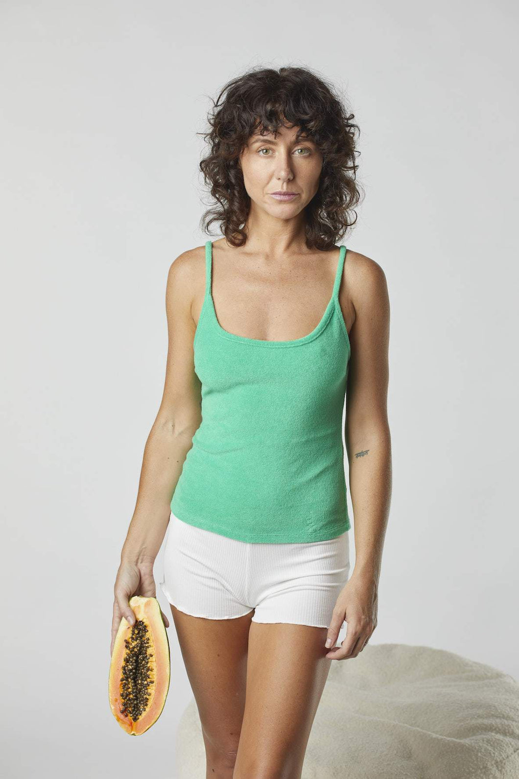 SUMMI SUMMI - TERRY KIRBY SINGLET - KIWI FRUIT