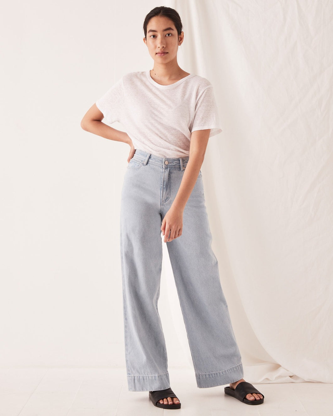 ASSEMBLY - WIDE LEG JEAN PACIFIC BLUE