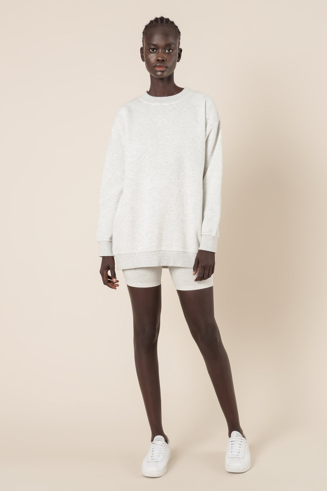 NUDE LUCY - CARTER CLASSIC BOYFRIEND SWEATER - SNOW MARLE